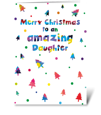 101 Daughter Christmas Card greeting card