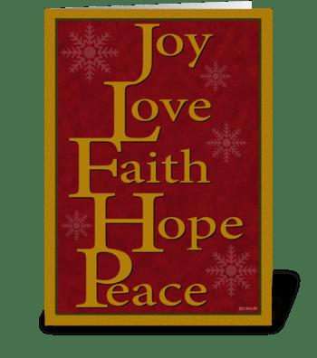 Christmas Words Christmas Card greeting card