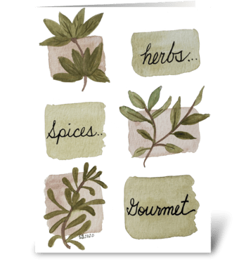 Herb Botanical Any Occasion greeting card