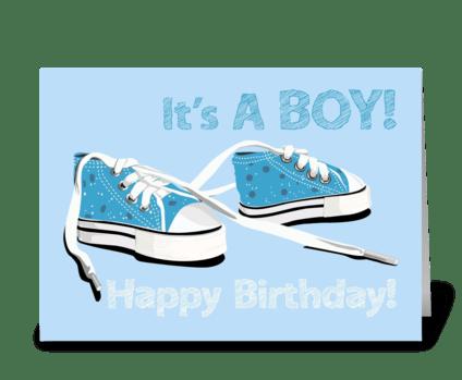 Birthday-it's-a-boy greeting card