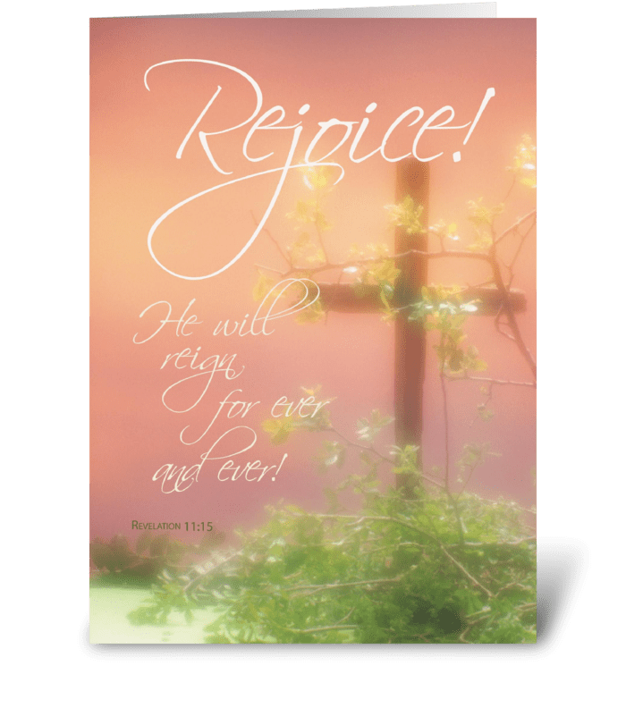 Easter Rejoice Risen Lord greeting card