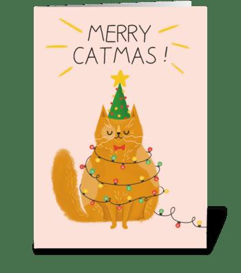 Merry catmas card !  greeting card