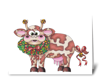 Dairy Christmas greeting card