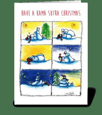 Kama Sutra Christmas greeting card