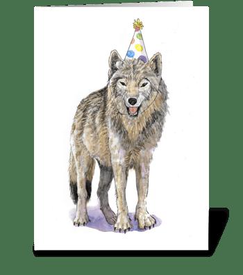 Dog Party Animal greeting card