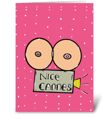 Nice Cannes greeting card