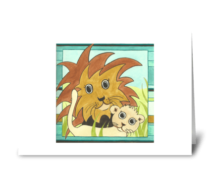 Lulu's Lions greeting card