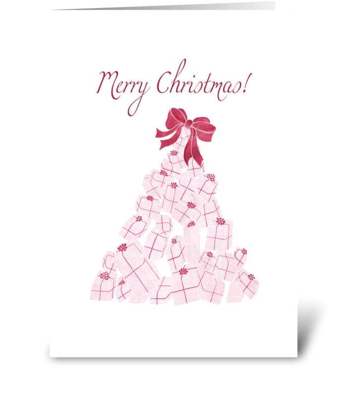 Christmas Present Tree greeting card