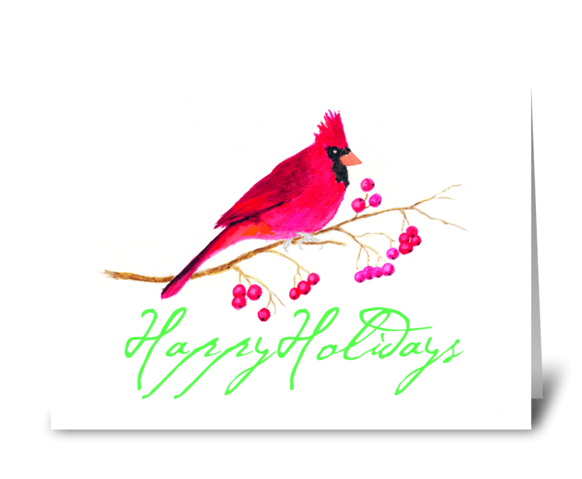 Red Christmas Cardinal greeting card
