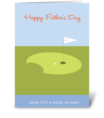 Father's Day golf greeting card