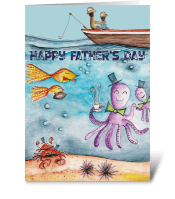 Father's Day Under the Sea greeting card
