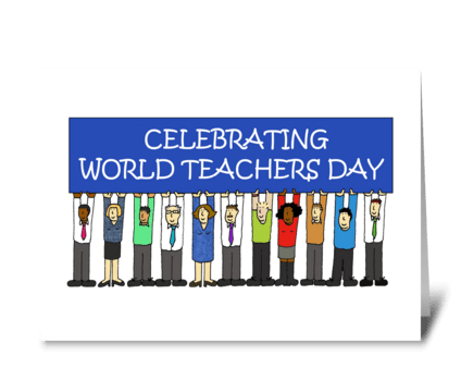 World Teachers Day, October 5th. greeting card