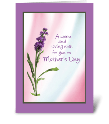 Warm Mother's Day Wish greeting card