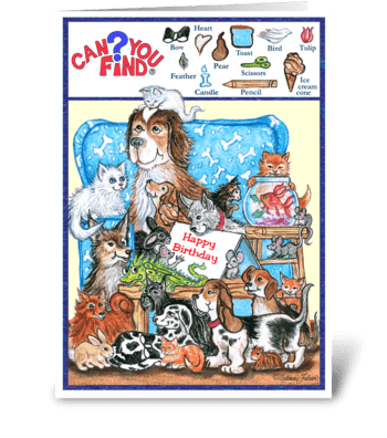 Can You Find? Activity Card for Children greeting card