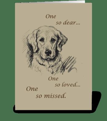 Retriever Dog Pet Sympathy greeting card