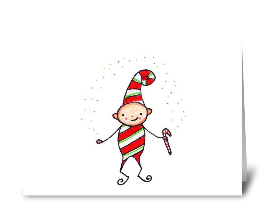 Peppermint Pixie greeting card