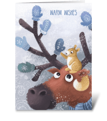 Make the cold season warmer greeting card