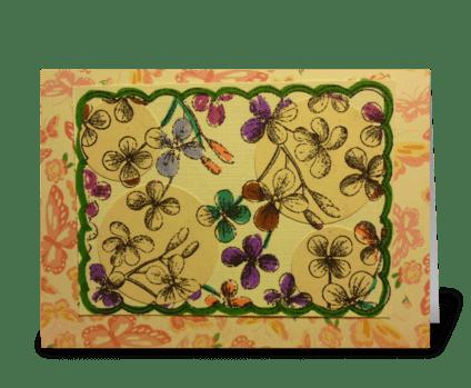 Spotlight Flowers greeting card