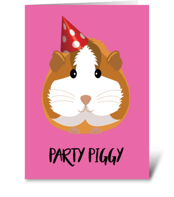 Party Piggy greeting card
