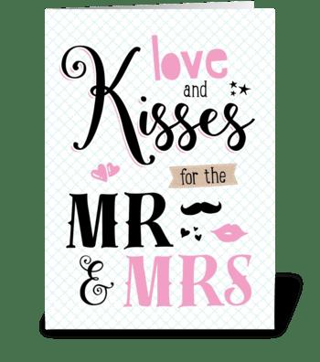 Love & Kisses greeting card