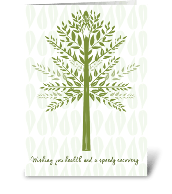 Wishing you health and speedy recovery greeting card