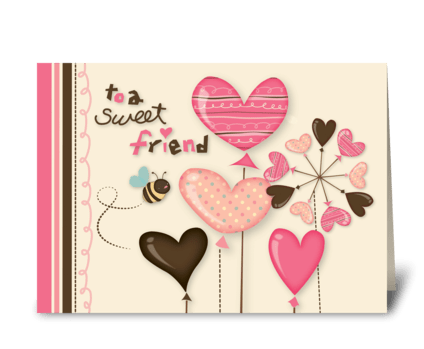 Sweet Bee Friendship greeting card