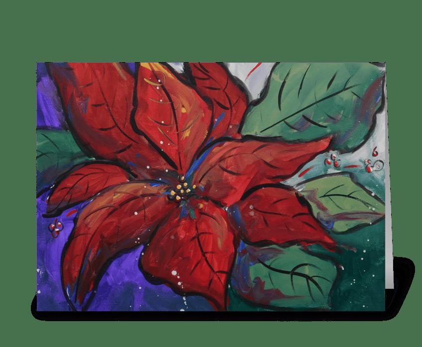 Poinsettia Pizazz greeting card