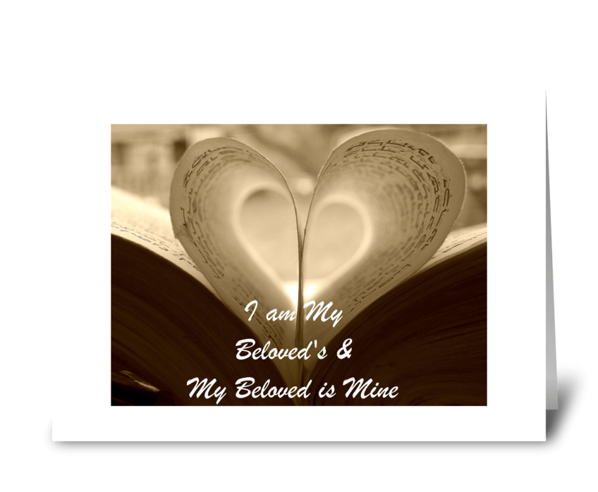 I am My Beloved's and My Beloved is Mine greeting card
