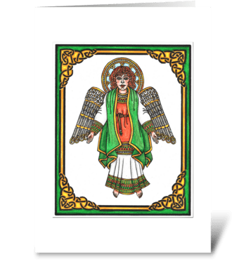 IRISH GUARDIAN ANGEL greeting card