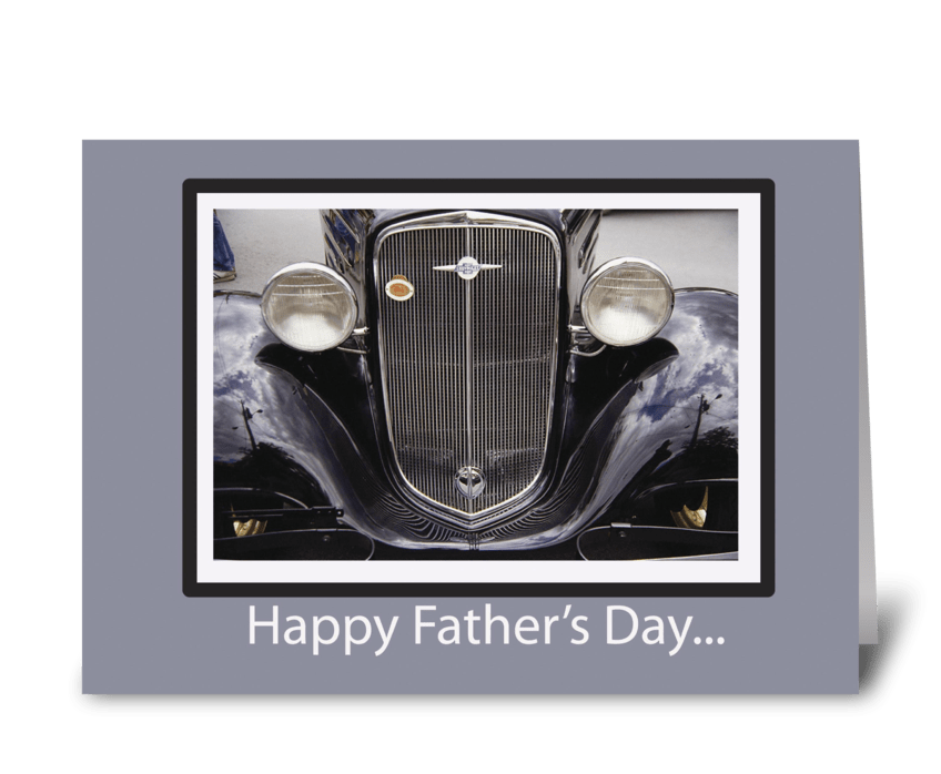 Father's Day Classic Car greeting card