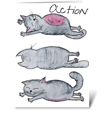Action greeting card