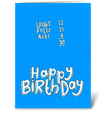 Happy 30th Birthday! greeting card