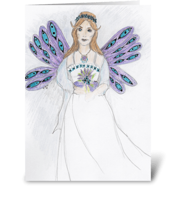 Fairy Bride greeting card