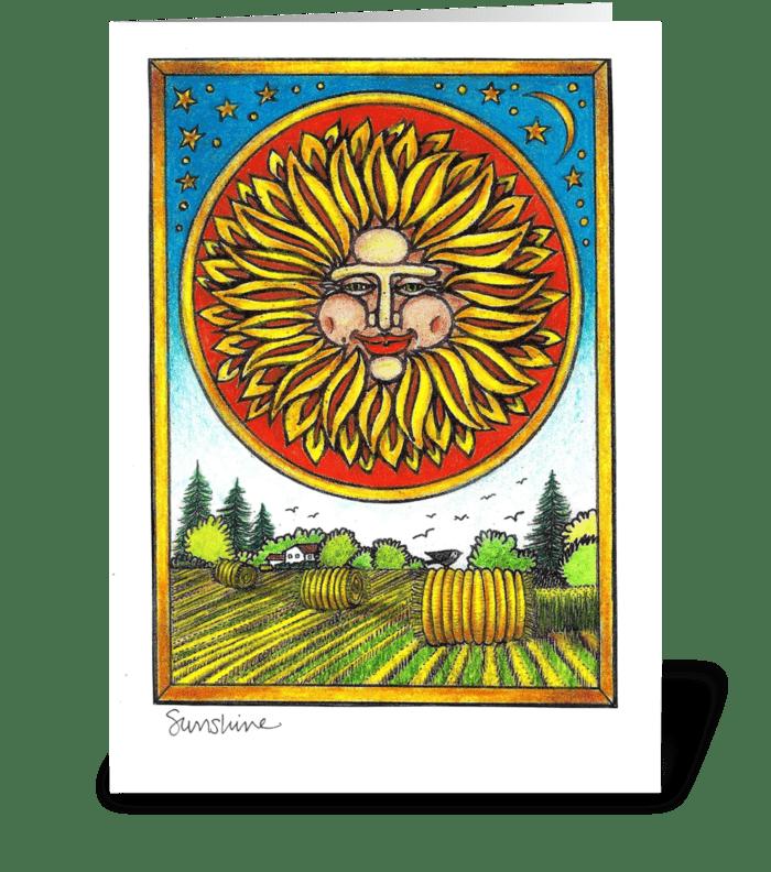 Sunshine greeting card